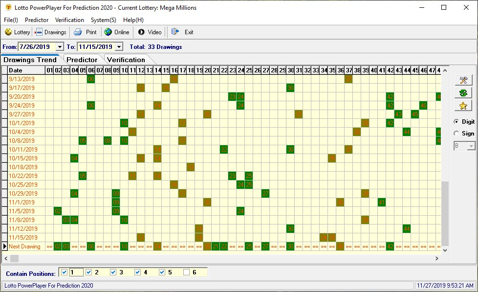Lottery Prediction Software Screenshot 1