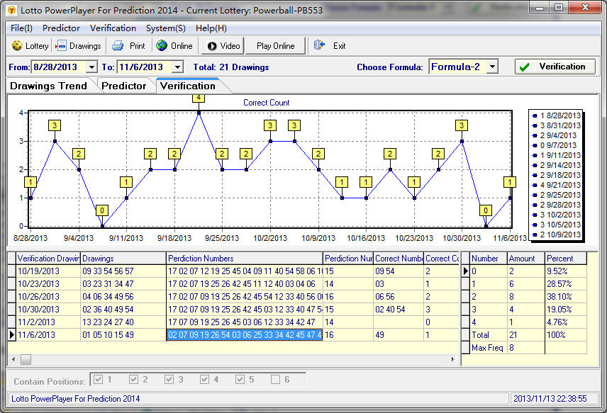 Lottery Prediction Software Screenshot 2