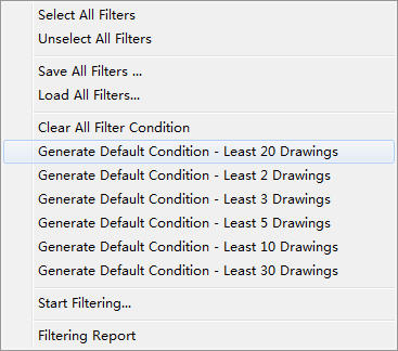 Generate default conditions
