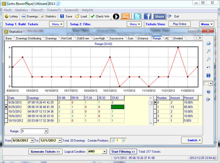 Win for Life Lottery Software Statistical Analysis